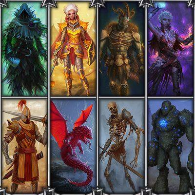 Karakters van het bordspel Gloomhaven(Engels)