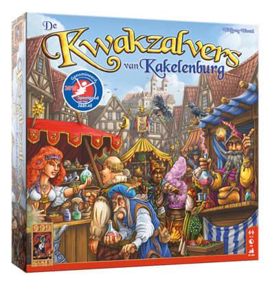 De Kwakzalvers van Kakelenburg Bordspel Productfoto