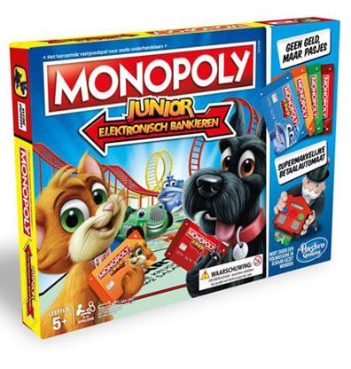 Monopoly Junior Elektronisch Bankieren Bordspel Productfoto
