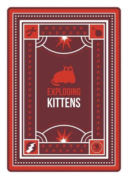 Achterkant van een speelkaart van Exploding Kittens NSFW Nederlands