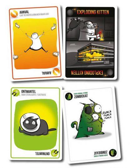 Speelkaarten van Exploding Kittens NSFW Nederlands