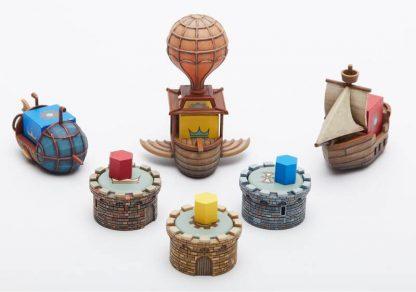 Feudum Rudders and Ramparts bordspel spelonderdelen