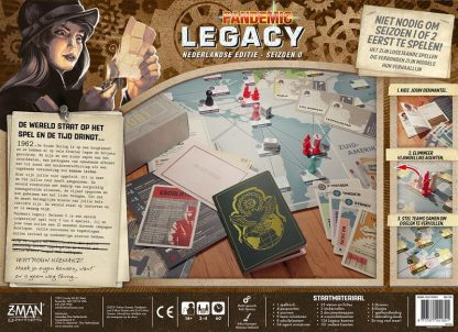 Pandemic Legacy Seizoen 0 Nederlands Bordspel Achterkant