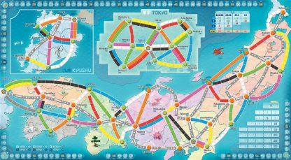 Ticket to Ride Japan & Italie bordspel speelbord Italie