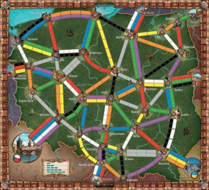 Ticket to Ride Polska bordspel speelbord