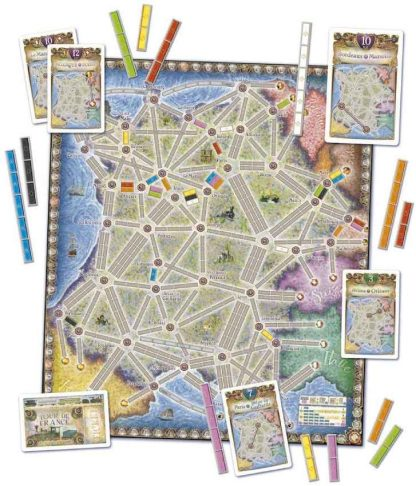 Ticket to Ride France & Old West Speelveld