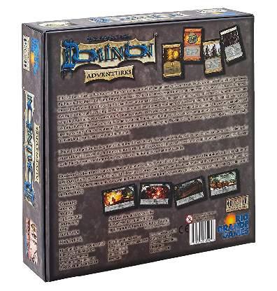Dominion Adventures Bordspel Achterkant